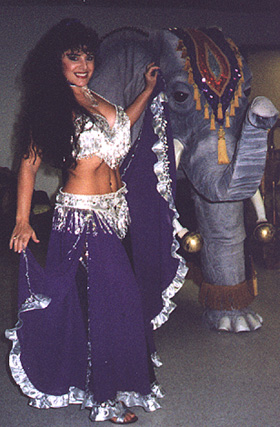 The lovely and talented Soraya with Lucky the Elephant.